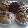 Muffins aux oreos