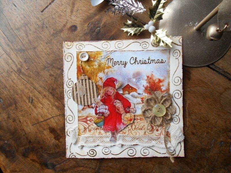 Petite fille aux cadeaux 2017-azimutscrap
