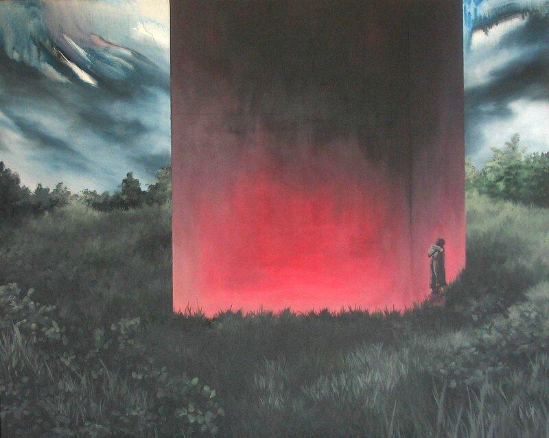 Linda Roux, A family IX, acrylique sur toile, 100 x 80 cm, 2009