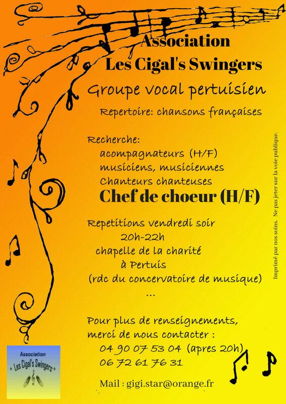 Affiche 3 -2018 recherche CC -Cigal's Swingers