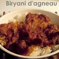 Indian mood: biryani d'agneau et cheese naan