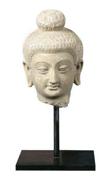 Head of Buddha, Gandhara, 2nd - 3rd Century