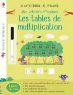 Les tables de multiplication Activités effaçables couv