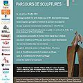La galerie le hangar vous donne rendez-vous sur le parcours de sculptures du 1er avril au 10 juillet 2016