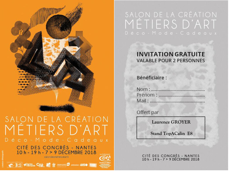Invitation Gratuite Salon Métiers d'Art 2018(1)