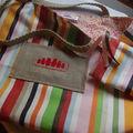 Le sac du printemps et sa pochette zippée assortie