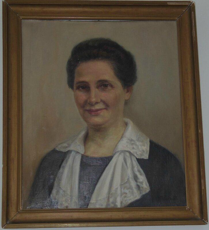 Huile Marie Anne DESCAMPS _1945