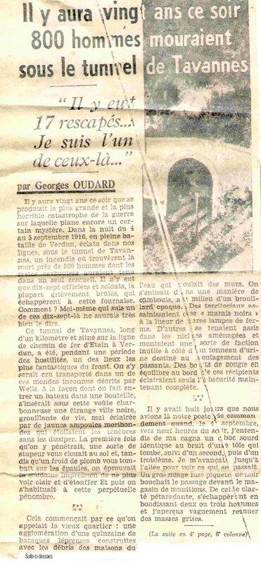 journal Tunnel de Tavannes 1