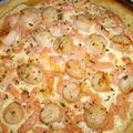 Tarte fine saumon et st jacques
