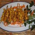 Brochettes poulet malaysian satay et peanut sauce