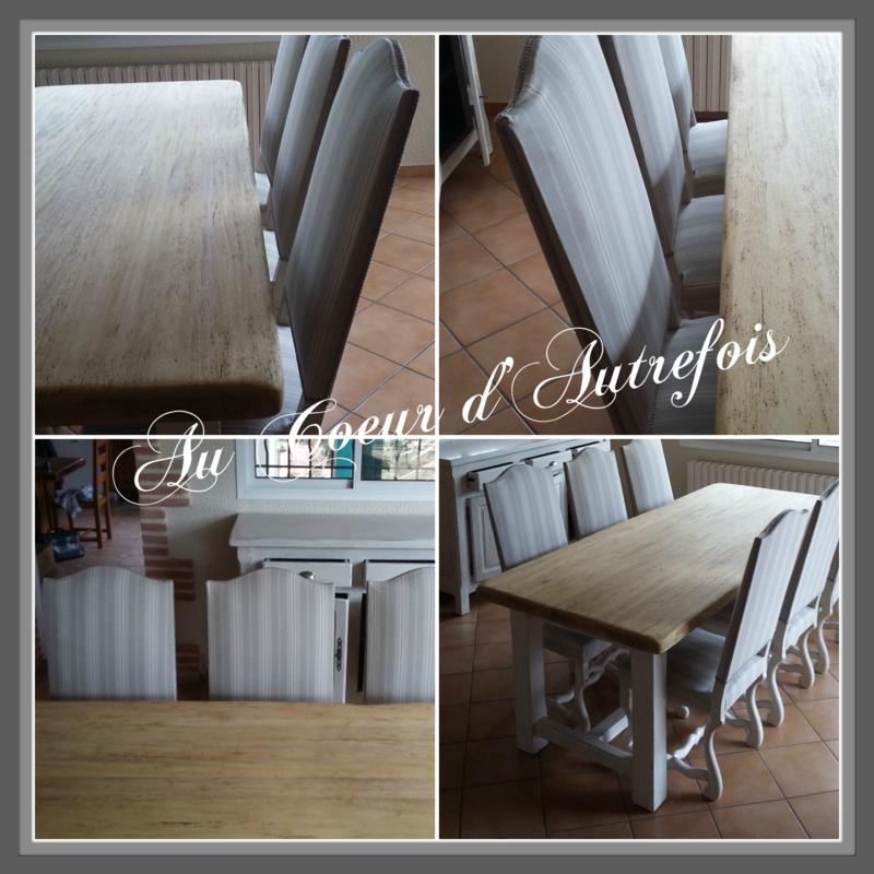 Table de ferme et chaise toile à matelas S
