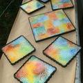Des dessous de verre très colorés