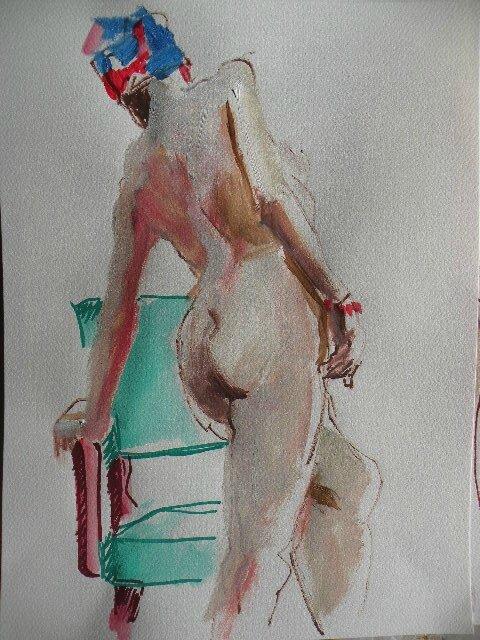 Dessin peinture de nus atelier tableau aquarelle acrylique couleur (6)