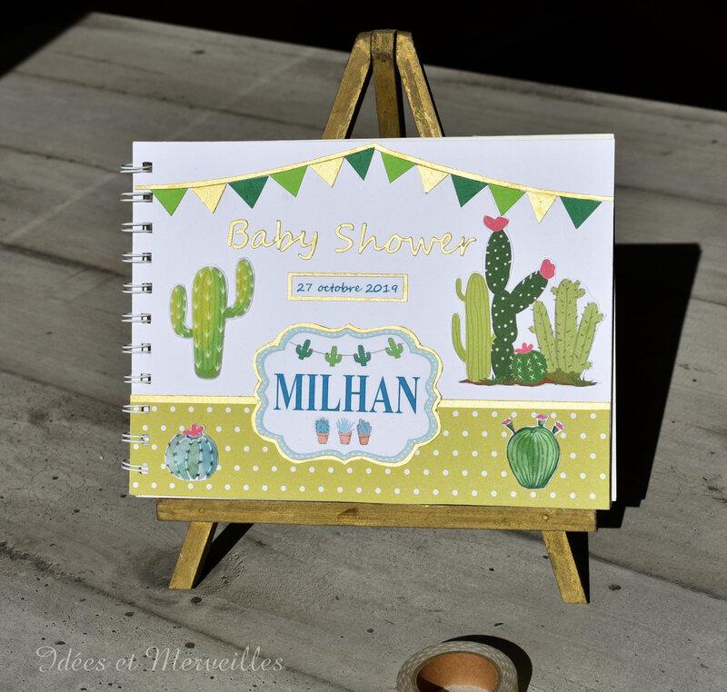 livre d'or baby shower theme cactus - idees et merveilles (2)