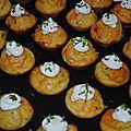 Mini cupcake au saumon fume et philadelphia