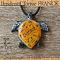 Pendentif tortue Franck