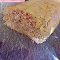 Roulé de pomme de terre au saumon