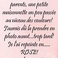 Le rose et encore le rose!