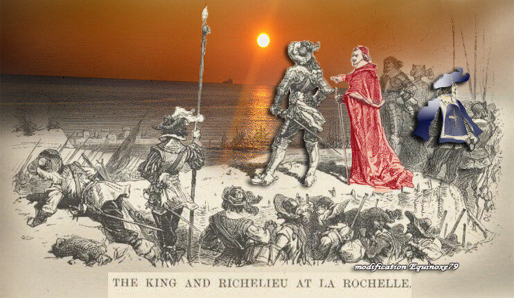 The king and Richelieu At La Rochelle 1626