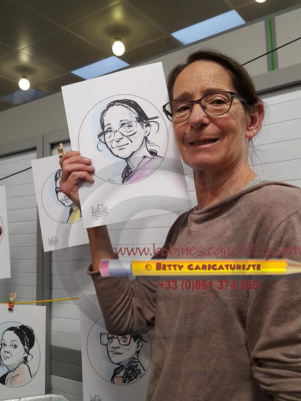 a entreprise caricature animation galette rois personnel portrait