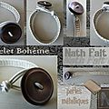 Bracelet Bohème - perles Metallic beiges (0)