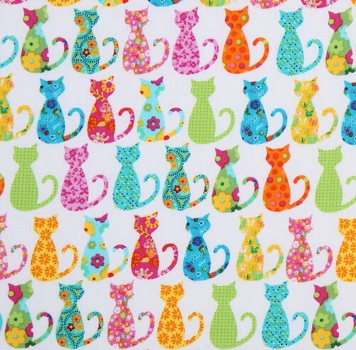 cute-white-Michael-Miller-fabric-colourful-Calico-Cat-160924-2