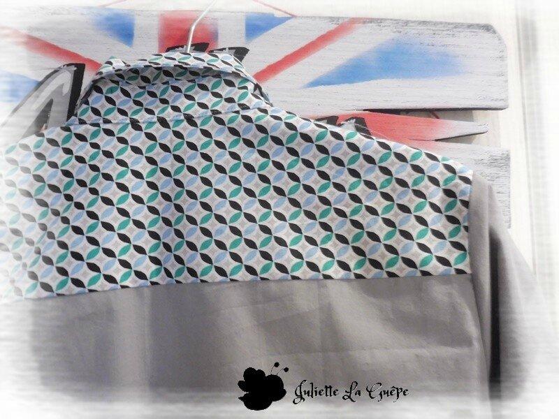 grise géométrique bleu vert 7