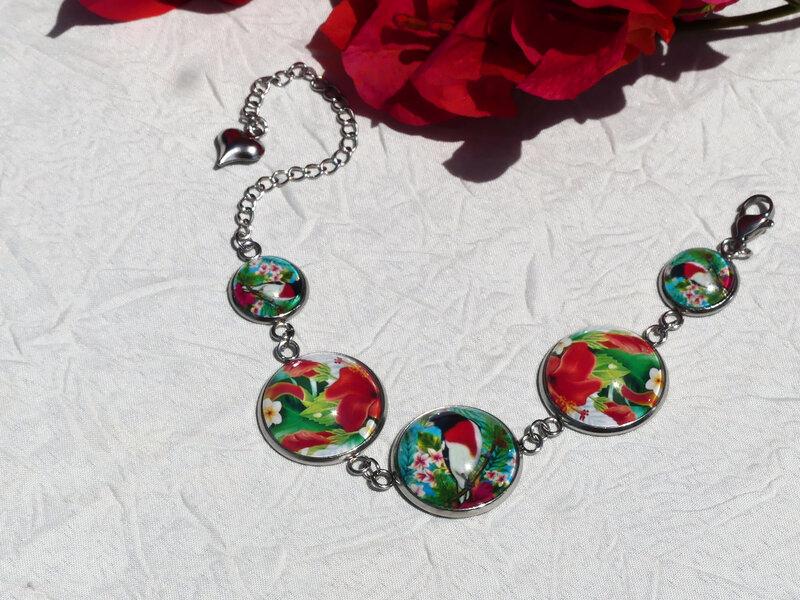 bijoux colores made in guyane par louise indigo oiseau retro rouge (14)