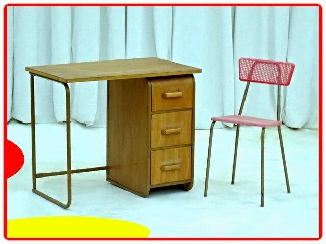 bureau et chaise vintage HITIER enfant