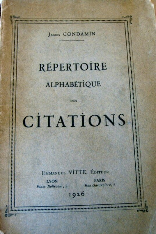Répertoire citations 1926 - 1
