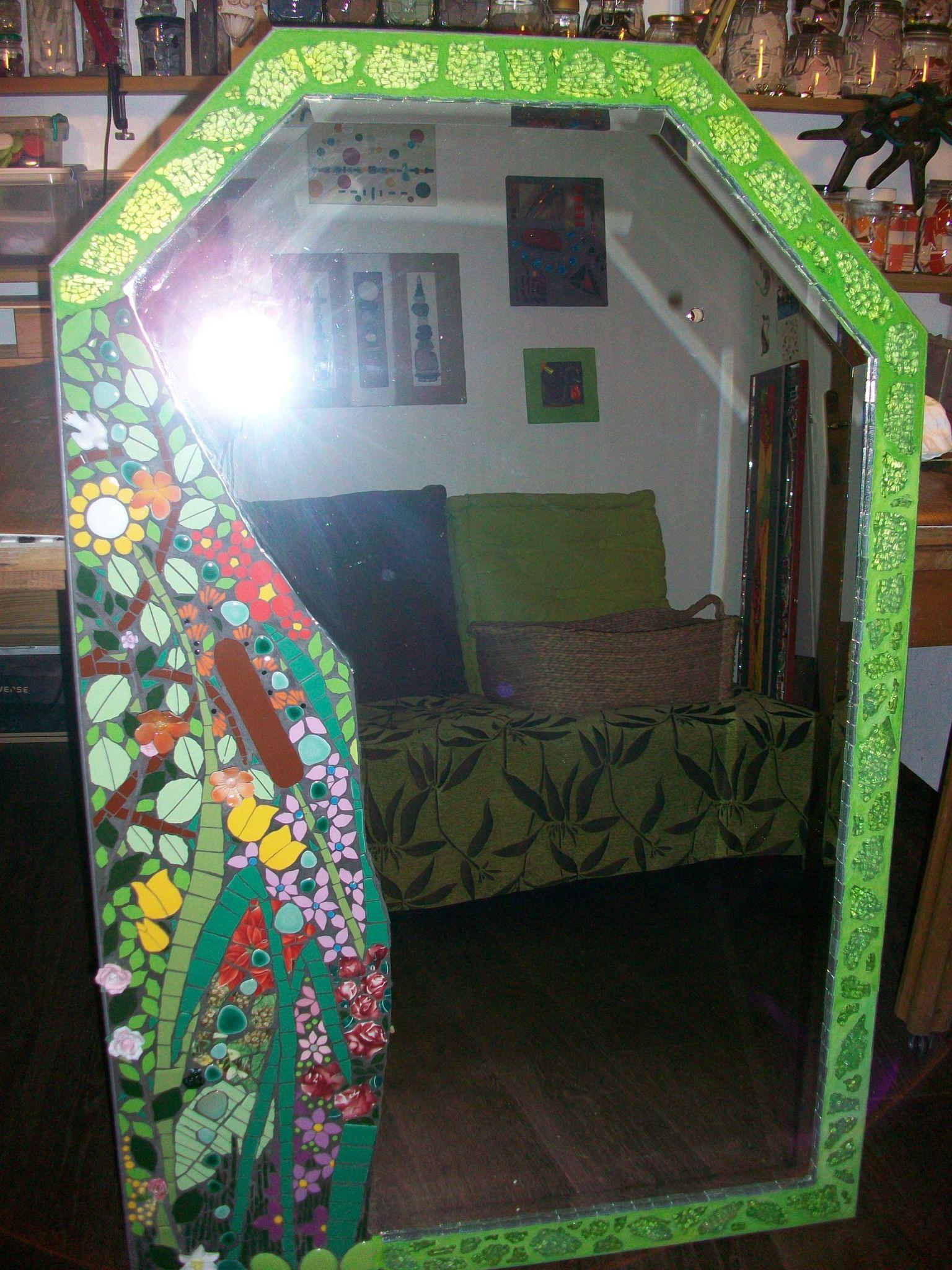 miroir de gerbe fleurie