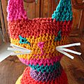Andy le chat arty !chat au crochet! serial crocheteuses n°212