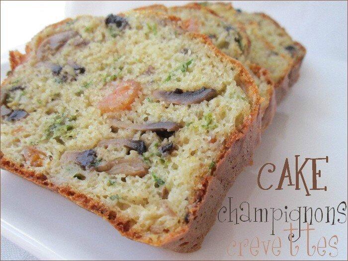 cake champignons - crevettes 1