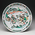 A famille-verte dish, qing dynasty, kangxi period (1662-1722)