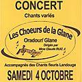 Concert samedi 4 octobre