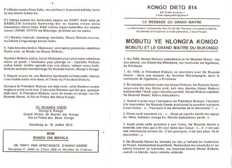 MOBUTU YE NLONGI A KONGO 1