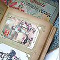 Livre de famille garni de cartes postales anciennes