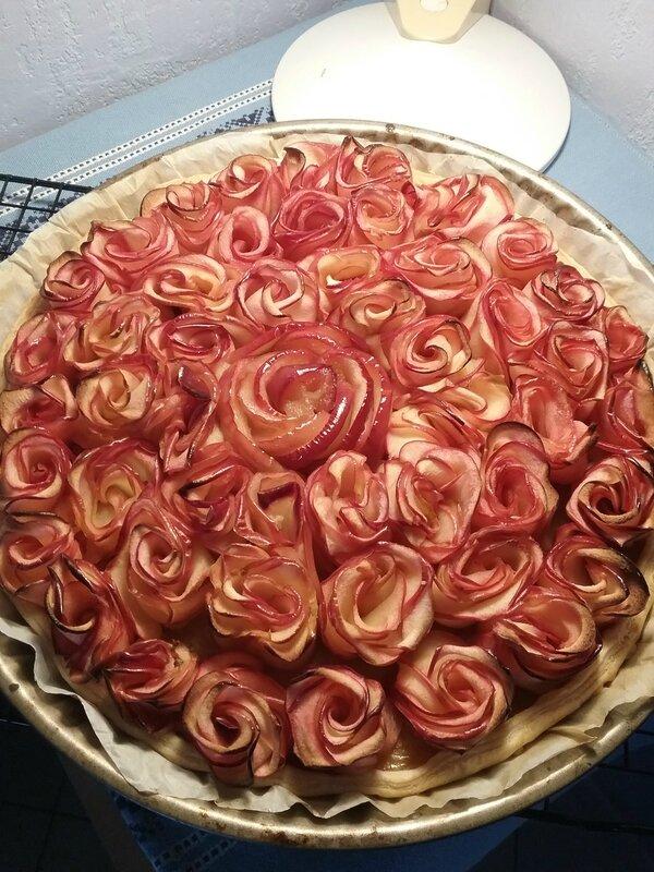 Tarte Bouquet de roses 104