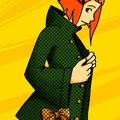 La jeune fille au manteau à pois