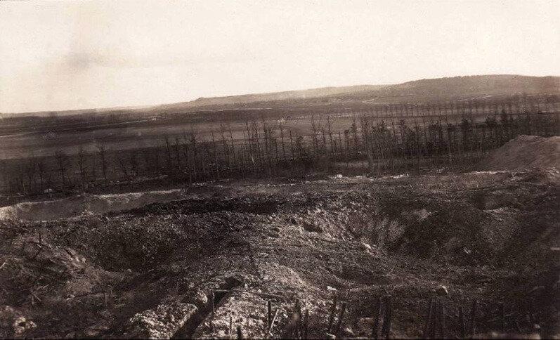 tranchées de Sapigneul et de La Neuville et champ de bataille