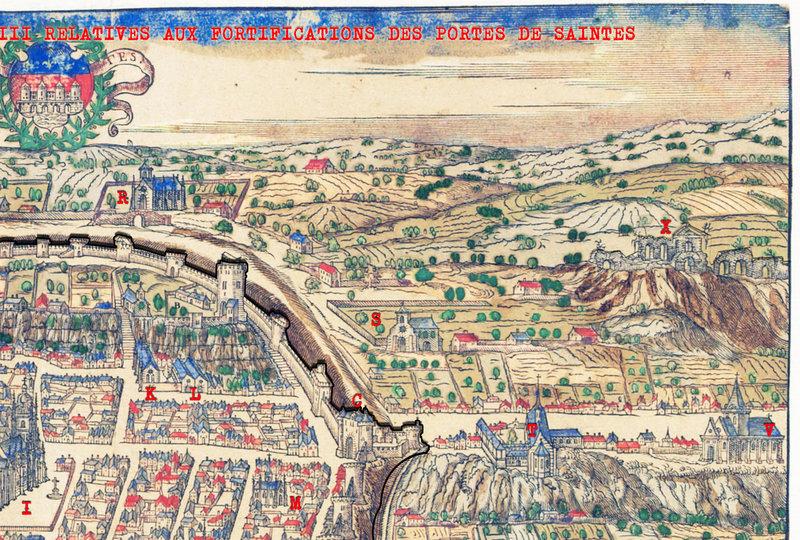 11 décembre 1484 LETTRES DU ROI CHARLES VIII RELATIVES AUX FORTIFICATIONS DES PORTES DE SAINTES b