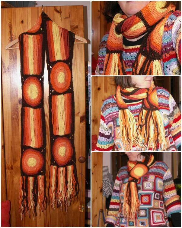 crochet_echarpe lumiere franges