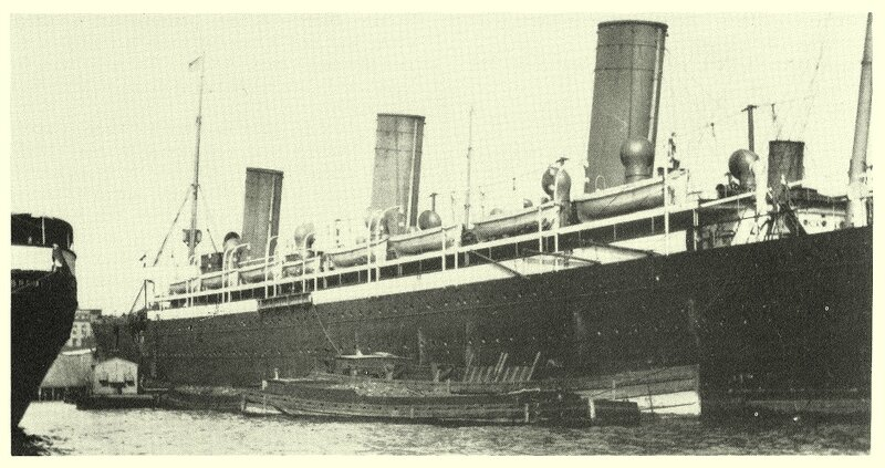 1898, Kaiser Friedrich at Pier 1 of Hoboken - Kaiser Friedrich, Hoboken (USA, New Jersey), Pier 1 face à Manhattan, 1898.