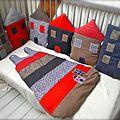 Ensemble petites maisons chic et élégant