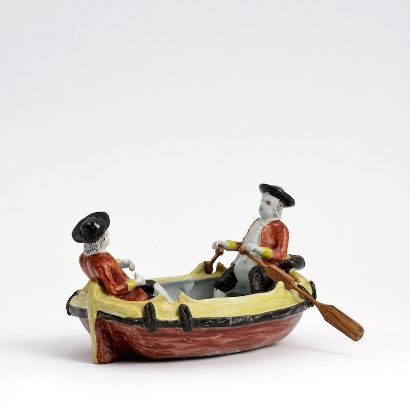 Polychrome_Group_of_Two_Gentlemen_in_a_Boat__Delft__circa_1780
