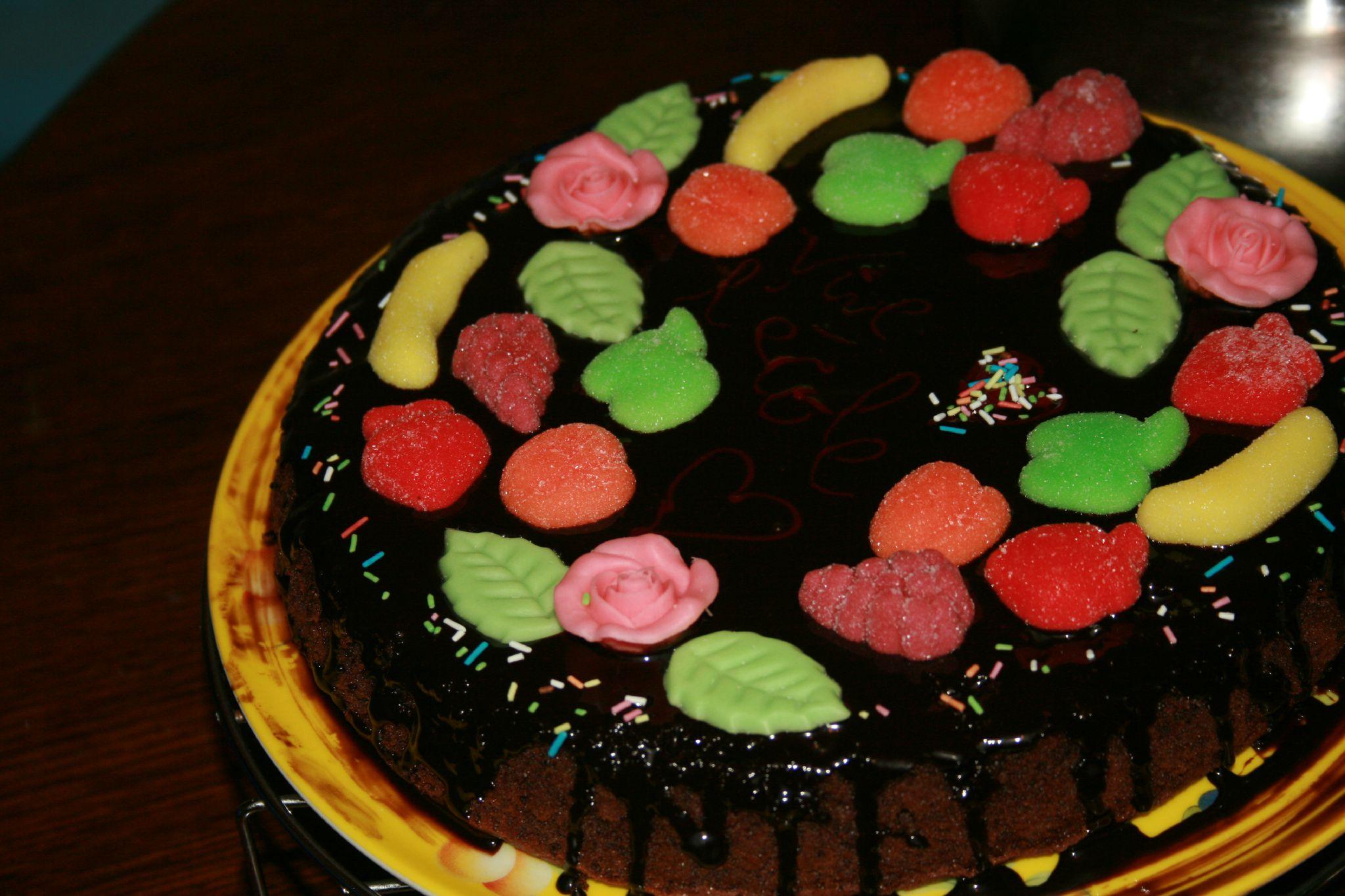 G�teau au chocolat bonbons color�