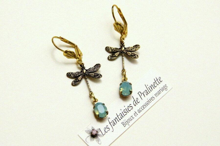boucles-d-oreilles-en-cristal-cabochon-ovale-bleu-opal-libellules-doré-4