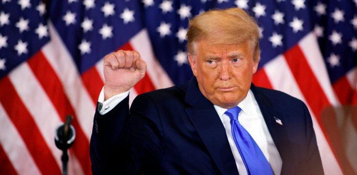 Donald Trump defiant