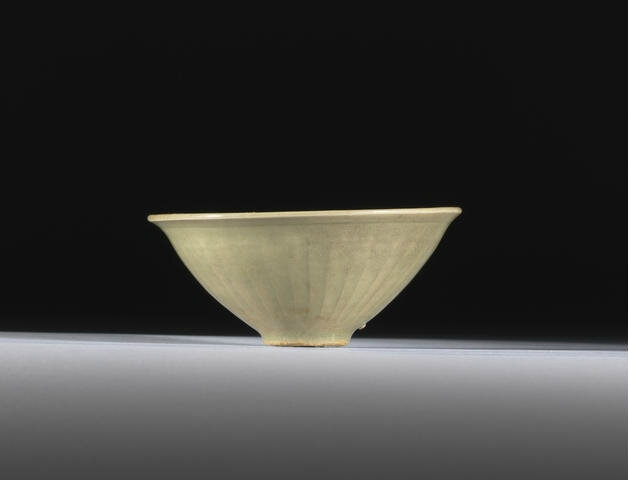 A small Yaozhou celadon carved 'chrysanthemum' bowl, Song Dynasty