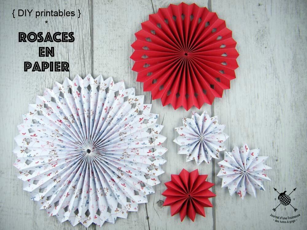 DIY Printables : des rosaces en papier avec Créavea